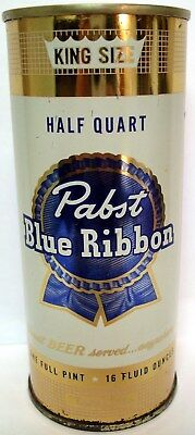 Pabst Blue Ribbon Half Quart One Pint 16 Ozs. TAPACAN Milwaukee Wisconsin WI PBR