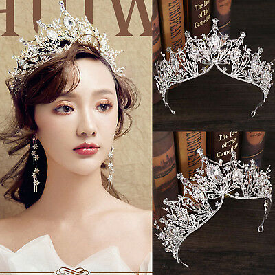 Baroque Rhinestone Crystal Headband Tiara Crown Wedding Bridal Hair Ornaments