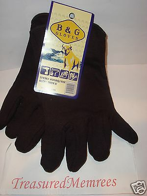 5 Pairs of B & G Everyday Work Gloves ~ One Size Fits Most ~ New With Tags