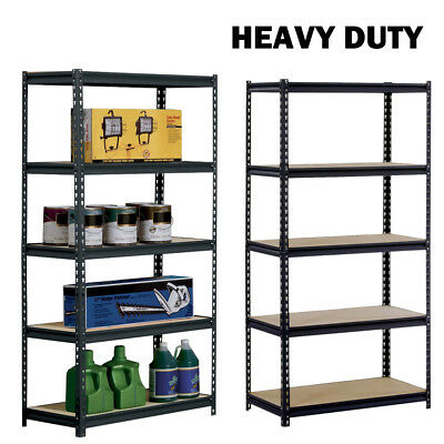 5 Tier Garage Shelving Racking Heavy Duty Steel Boltless Warehouse Unit