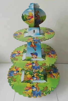 3 Tier Winnie The Pooh Cupcake Stand Birthday Party Table Decoration