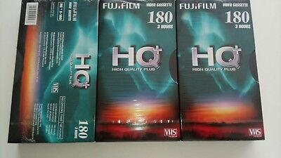 Fujifilm VHS cassettes HQ+ 180 (price includes 3 cassettes and delivery)