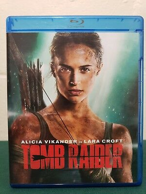 FAST FREE SHIP Tomb Raider Blu-ray 2018. NEW in case minus DVD/Digital/Slipcover