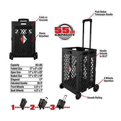Olympia Tools 85-404 Pack-N-Roll Mesh Rolling Cart