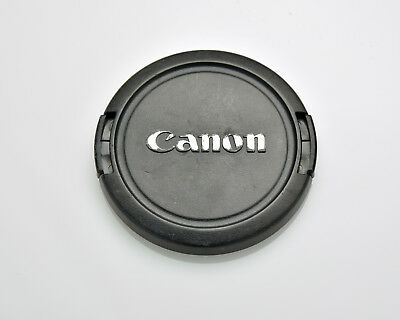 Canon EOS E 58mm Snap-On Front Lens Cap Chrome Logo 18-55 55-250 75-300 (#3308)