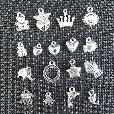 100pcs Wholesale Bulk Lots Silver Mix Plant animal Pendants Charms Hot