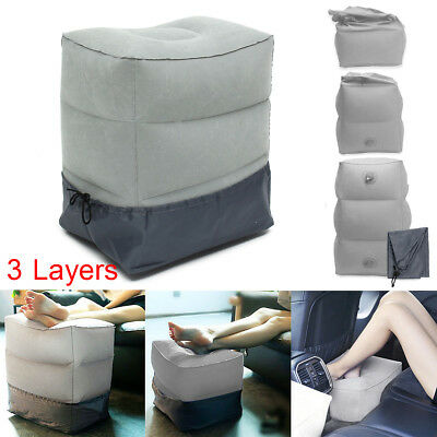 Inflatable Portable Travel Footrest Pillow Plane Train Kids Bed Foot Rest Pad