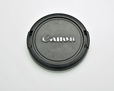 Canon EOS E 58mm Snap-On Front Lens Cap Chrome Logo 18-55 55-250 75-300 (#3309)