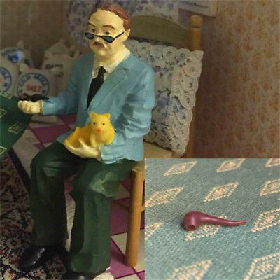 1:12 Dollhouse Miniature Furniture Room Accessories Grandfather's Pipe Brown