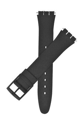 Brand New Black Swatch Resin Style Watch Strap 17mm and 14mm