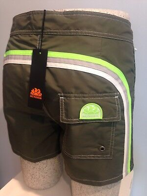 "Costume Uomo Sundek  Boardshort Rb-Low Rise 14"" M502B Dark Green"