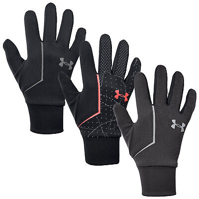 Under Armour Mens ColdGear Infrared Run Liner Gloves Pair - UA CGI Winter Sports