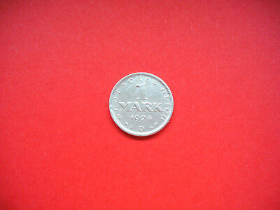 Weimarer Republik 1 Mark 1924 D Silber