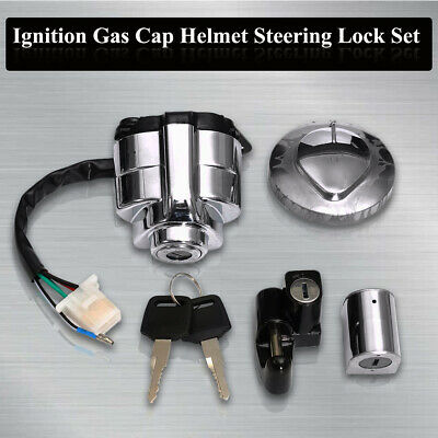 Ignition Switch Gas Helmet Steering Cap Lock Set For Honda Shadow VLX VT 400 600