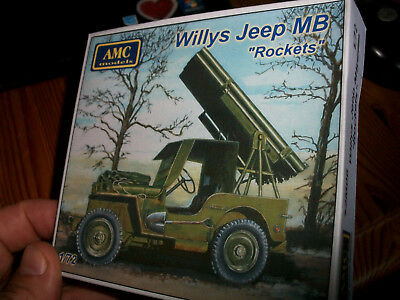 "1/72 AMC 72M06, AMC72M06 Willys Jeep MB ""Rockets"" . Resin Kit sold out! OVP"