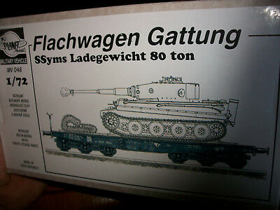 1/72 Planet MV048 Flachwagon Gattung SSymS Ladgewicht 80 Tonnen. Resin Kit ! rar