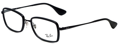 e4021606c79 AUTHENTIC RAY-BAN 6182 - 2509 Eyeglasses Silver on Black  NEW  53mm ...