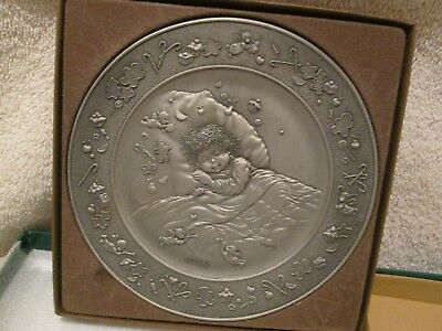 Hallmark Mary Hamilton Pewter Plate 1988 Visions of Sugarplums 12TH IN SERIES