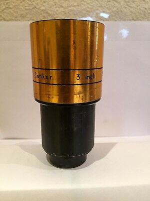 SANkOR 3 inch F - 2.0 projection lens no 34936