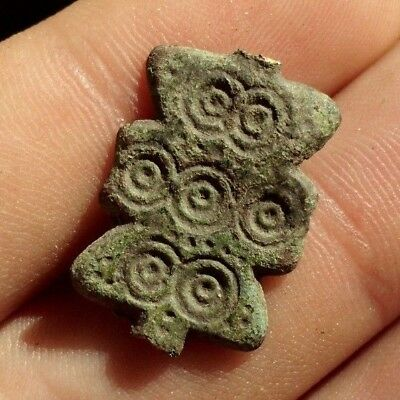 Intact Ancient Celtic Druids Bronze Solar Decoration - Wearable - 100 Bc
