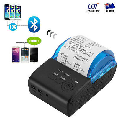 Mini Wireless 58mm Portable Bluetooth Thermal Printer Receipt for Android IOS