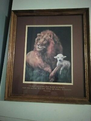 Dicksons The Lion And The Lamb Framed Art Made In The USA