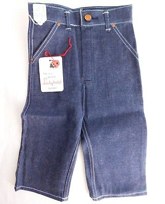 Vintage 1960s childrens blue denim jeans Ladybird boy girl UNUSED Age 2 years