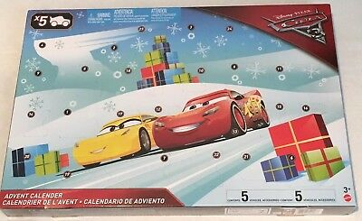 Disney Pixar Cars 3 Christmas Advent Calender With Many Xmas Surprises Brand New