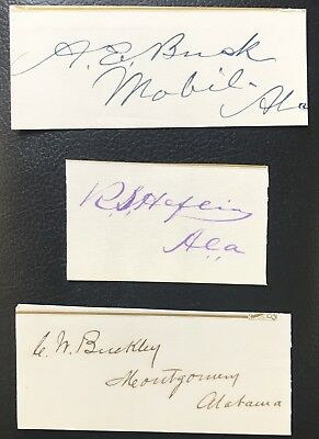 US House Of Rep AL 1869 Robert Heflin Charles W Buckley Alfred E Buck Signed Lot