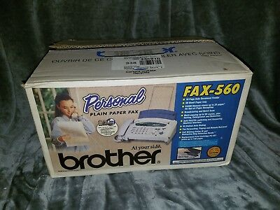 NEW Brother FAX-560, personal FAX machine, phone and fax, plain paper fax