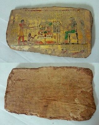 ANCIENT EGYPTIAN ANTIQUE POTTERY FRAGMENT ISIS with Nationals 2100-1832 BC