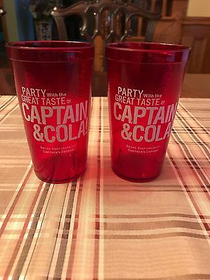 CAPTAIN MORGAN & COLA PARTY PLASTIC DRINK CUP---LOT of 2
