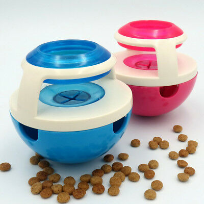 Interactive Dog Cat Puppy Food Treat Dispenser Bowl Ball Treats Exercise Toy