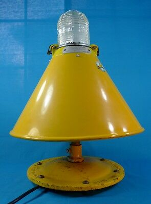 """RARE Vintage CROUSE-HINDS AIRPORT RUNWAY LIGHT / 21"""" Tall - Yellow Industrial"""