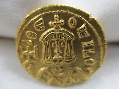 Byzantine 829-842 Emperor Theophilus Gold Solidus Coin- No Reserve