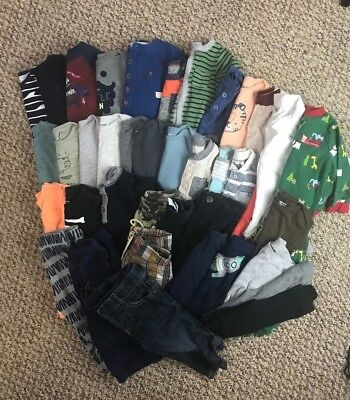 HUGE Baby Boy Clothing Lot Size 0-12 Months Baby Gap Carters Old Navy