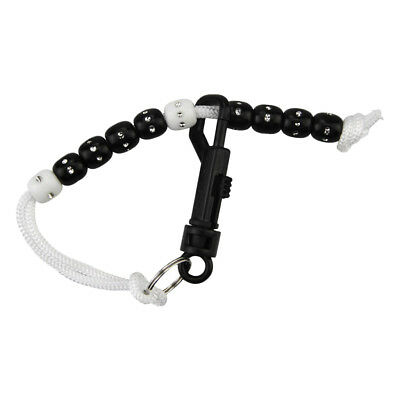 Black & White Golf Score Counter Bracelet w/Clip Stroke Score Counting Bead