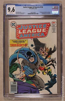 Justice League of America (1st Series) #136 1976 CGC 9.6 1465107008