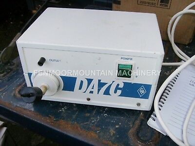 Vacuum pump. DA 7C specialist pump for building conservation and preservation