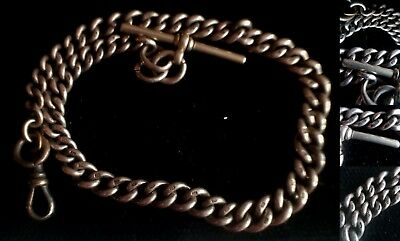 Antique Solid Silver Graduated (1880 -1920's) Albert Chain (45.6g) TS342-1-5718