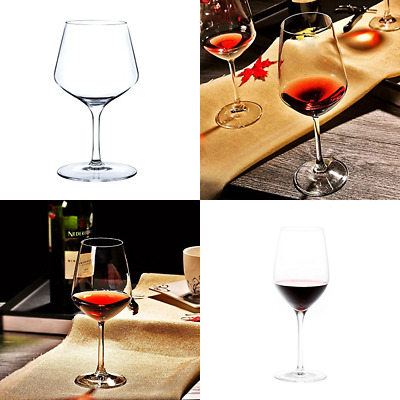 100% Crystal RED Wine Glasses Lead Free Set Of 6 Hand Made 430Ml FREE SHIPPING