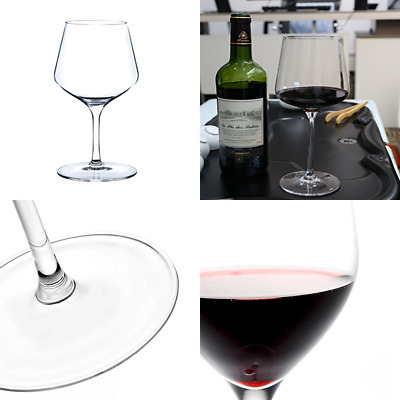 Red Wine Glasses 100% Crystal Lead Free RED Glass Hand Made 660Ml Set Of 2