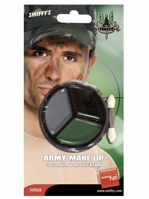 Smiffys Army Make-Up Camouflage with Applicator face Paint (30928)