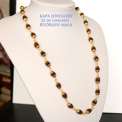 Necklaces & Pendants 22k Real Looking Gold Black Beads Necklace Chain Kapa Jewelry Costume Jewellery