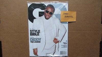 6253a8b58c GQ Magazine April 2018 Diddy Style Bible Sean Puffy Combs Sealed New MINT
