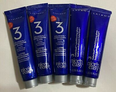 5 Clairol Nice N' Easy ColorSeal Conditioning Gloss Conditioner Lot of 5