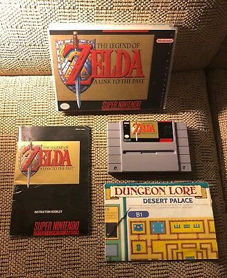 The Legend of Zelda: A Link To The Past (SNES) w/ Manual, map, and custom case!