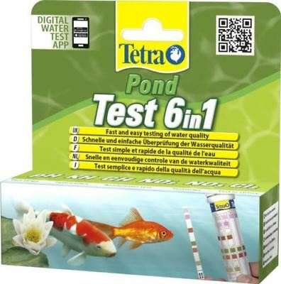 Tetra Pond Strips 6 In 1 Quick Water Test Kit - 25 Tests for PH KH GH NO2 NO3 CL