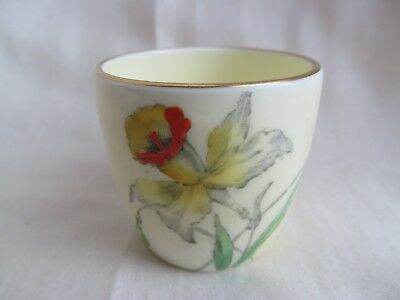 Crown Staffordshire Daffodils Egg Cup Rare Good Condition 1930s Stamp