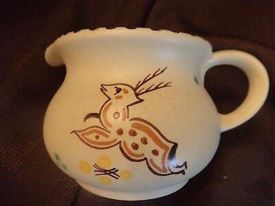 Honiton Pottery jug Merton rare Woodland leaping deer collectable post Collard